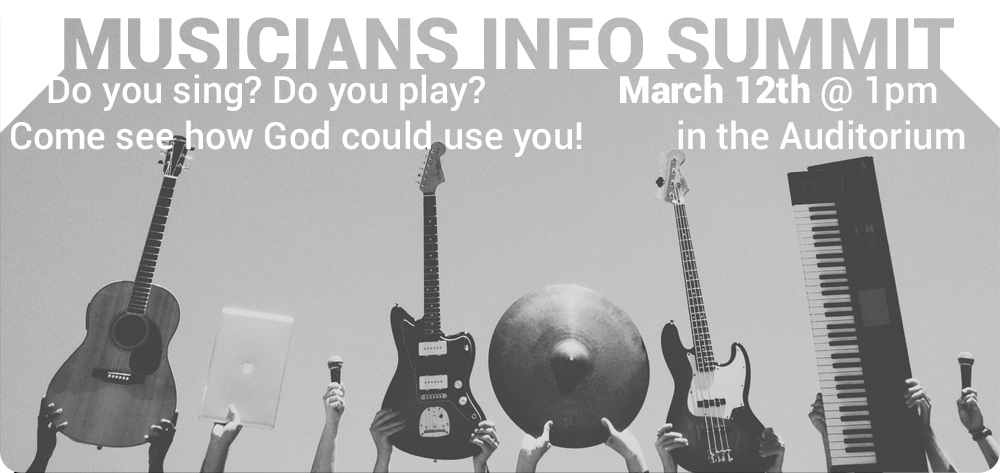 Worship Ministry - Musicians Information Summit