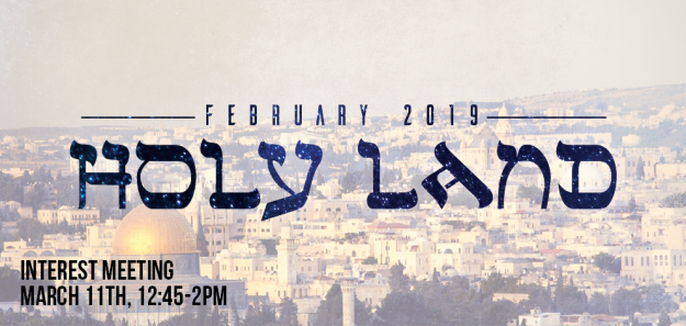 2019 Holy Land Trip Info Meeting