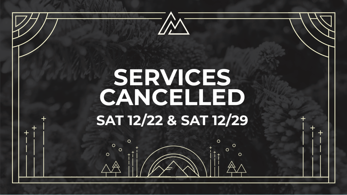 Services cancelled 12/22 & 12/29
